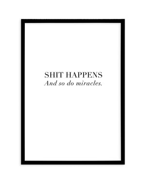 Shit Happens - Olive et Oriel | Shop Art Prints & Posters Online