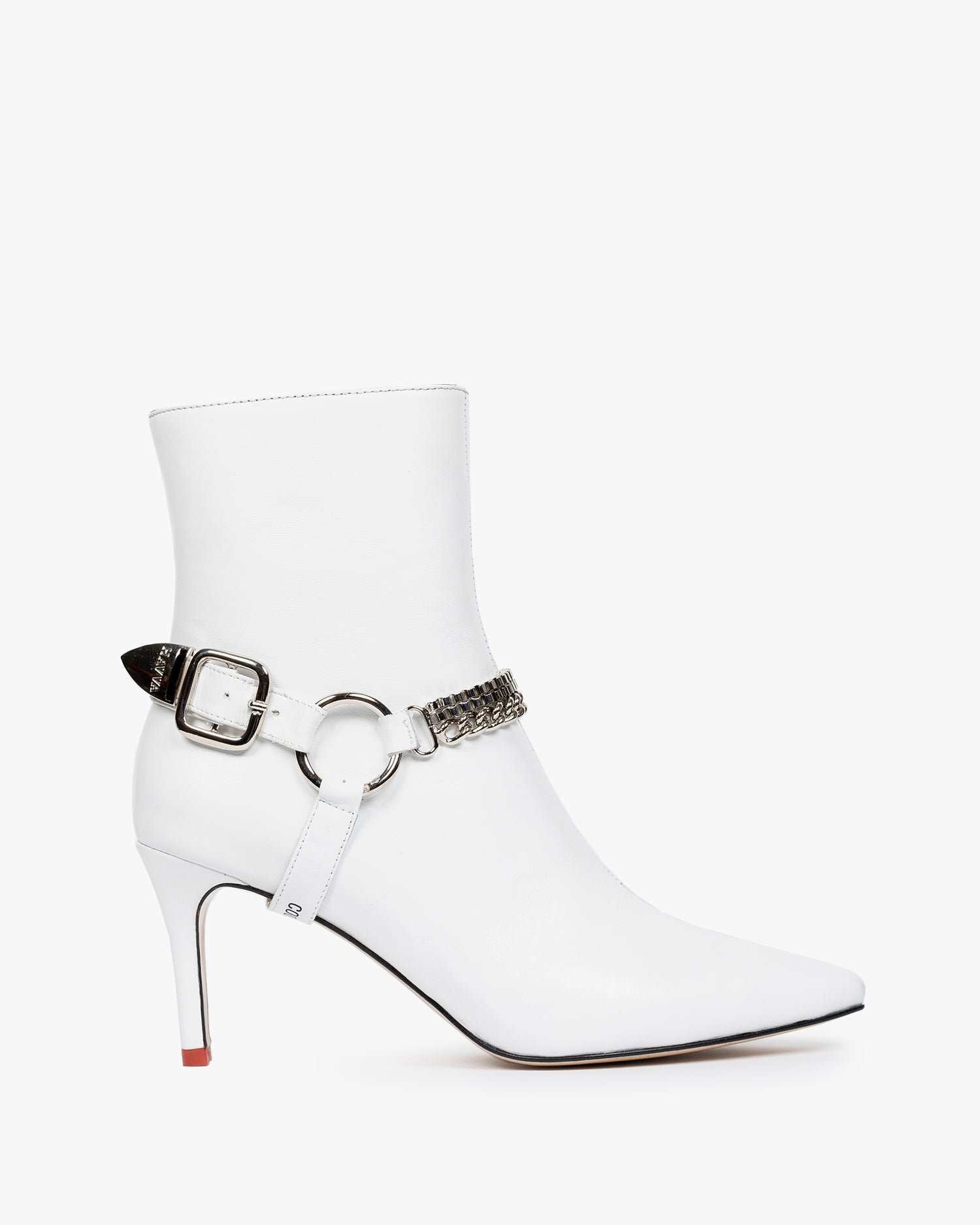 HAVVA Razor Buckle Boot White