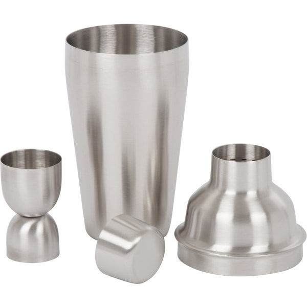 Stainless Steel Bar Set by Bar Brat | Complete 7 Piece Cocktail Shaker Set & Drink Mixer