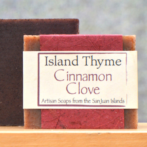 Island Thyme Cinnamon Clove Soap - 4 oz - close up
