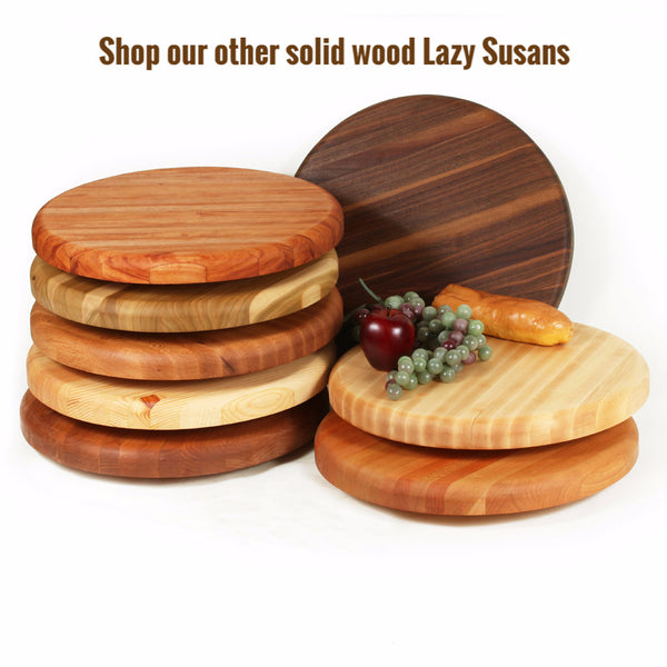 Large Lazy Susan in Alder
