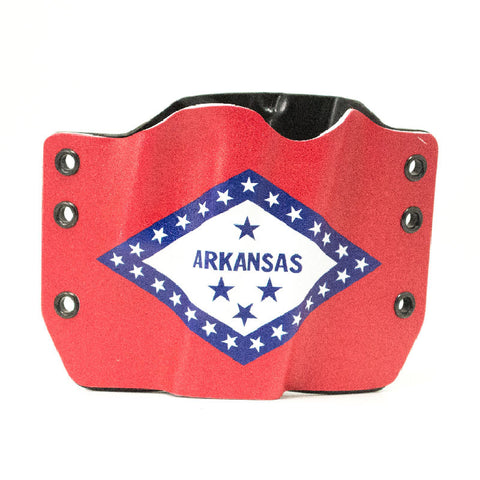 Image of Arkansas Flag on Kydex Gun Holster