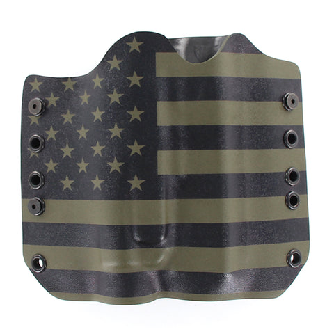 USA GREEN AND BLACK TACTICAL HOLSTER