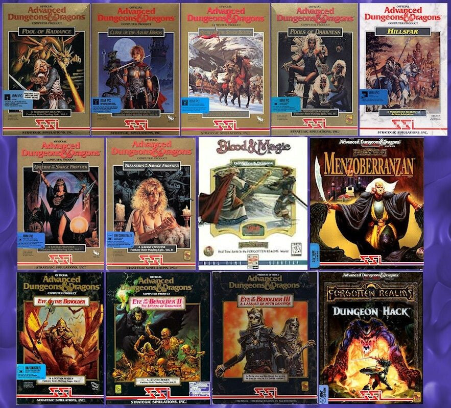 AD&D EYE OF THE BEHOLDER 1 2 3 +10 MORE FOR Windows 10 8 7 Vista XP