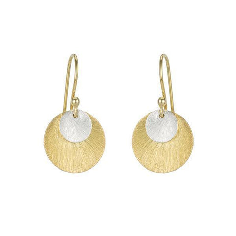 Positano Pavé Gold Stud Earrings