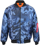 Original Deluxe Mens Zip Up Military Pilot Army Bomber Jacket Navy