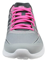 Womens Running Shoes Mesh Sneakers Memory Finity 2 Print Grey Pink 5RM00034-262 Size- 8.5