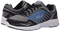 Fila Mens Gamble Running Shoes 1SR20963-057 Dark Silver Black Prince Blue Size- 13