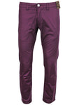 Jack South London Mens Slim Fit Straight Leg Casual Pants Chino Trousers Wine 961 Fehma
