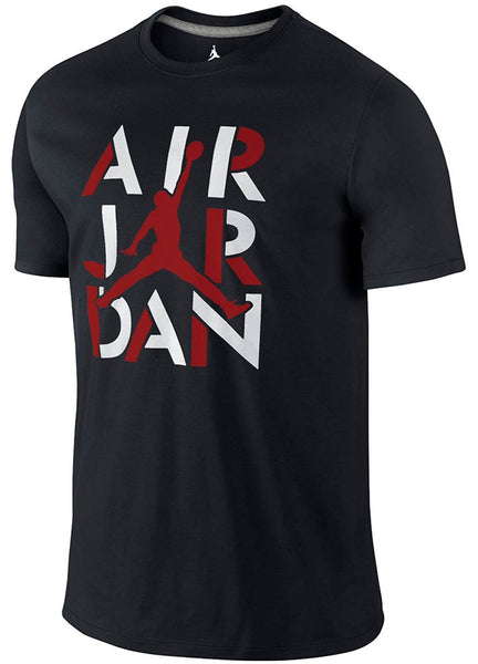 Nike Air Jordan Jumpman 23 AJ Mens Stencil Short Sleeve T-Shirt Black 659158-010 Black