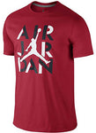 Nike Air Jordan Jumpman 23 AJ Mens Stencil Short Sleeve T-Shirt Red 659158-687 Red