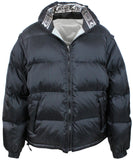Karl Kani Insulted Puffy Reversible Mens Jacket Vest with Removable Sleeves KK1769 Black/Silver
