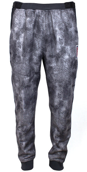 Men's LA Clippers Zipway Heathered Black Denim Full-Zip Tear Away Sweatpants