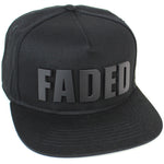 Reccess Designer Snapback Fashion Embossed Cap Black Hat FADED