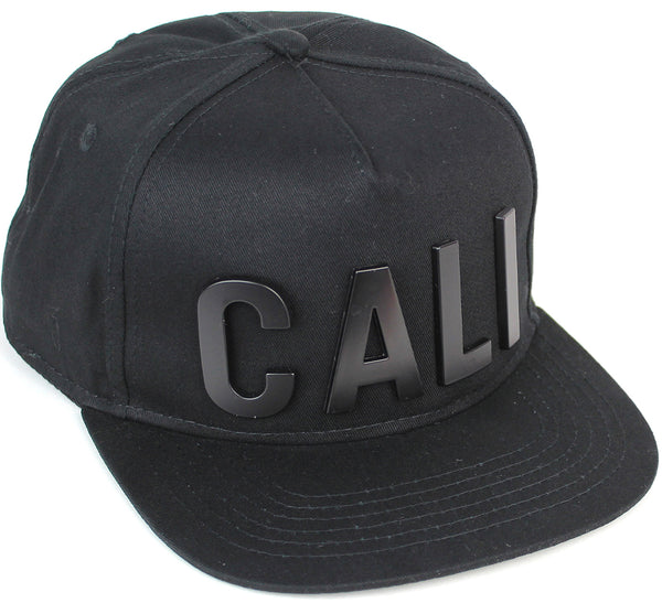 Reccess Designer Snapback Fashion Embossed Cap Black Hat CALI