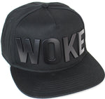 Reccess Designer Snapback Fashion Embossed Cap Black Hat WOKE