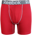 Reebok Mens Performance Training Boxer Briefs Red Grey size SMALL