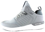 Supra Mens Method Mid Top Leather Mesh Athletic Sneaker Shoes Light Grey White 08022-013-M