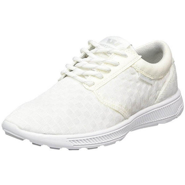 Supra Mens Hammer Run Mesh Running Athletic Sneaker Shoes White S55042