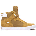 Supra Mens Vaider Hi Top Suede Canvas Fashion Sneaker Shoes Woodthrush White 08044-291-M