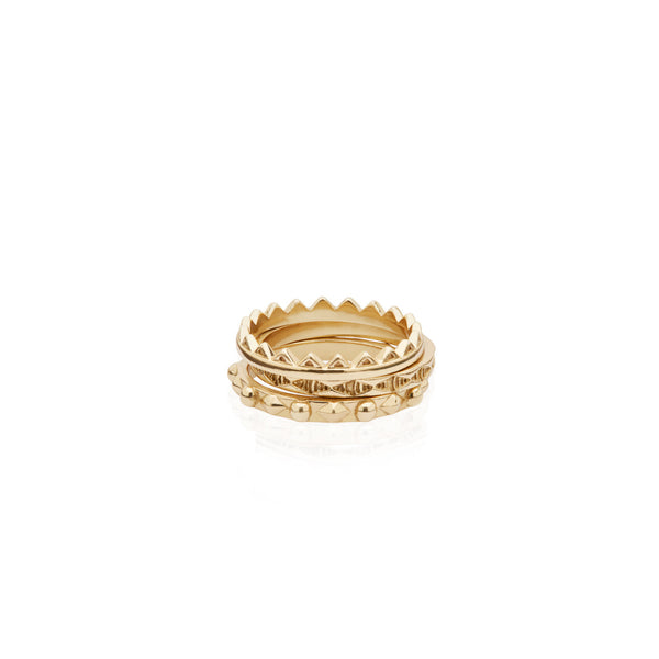 Criss Cross Triple Stack Ring