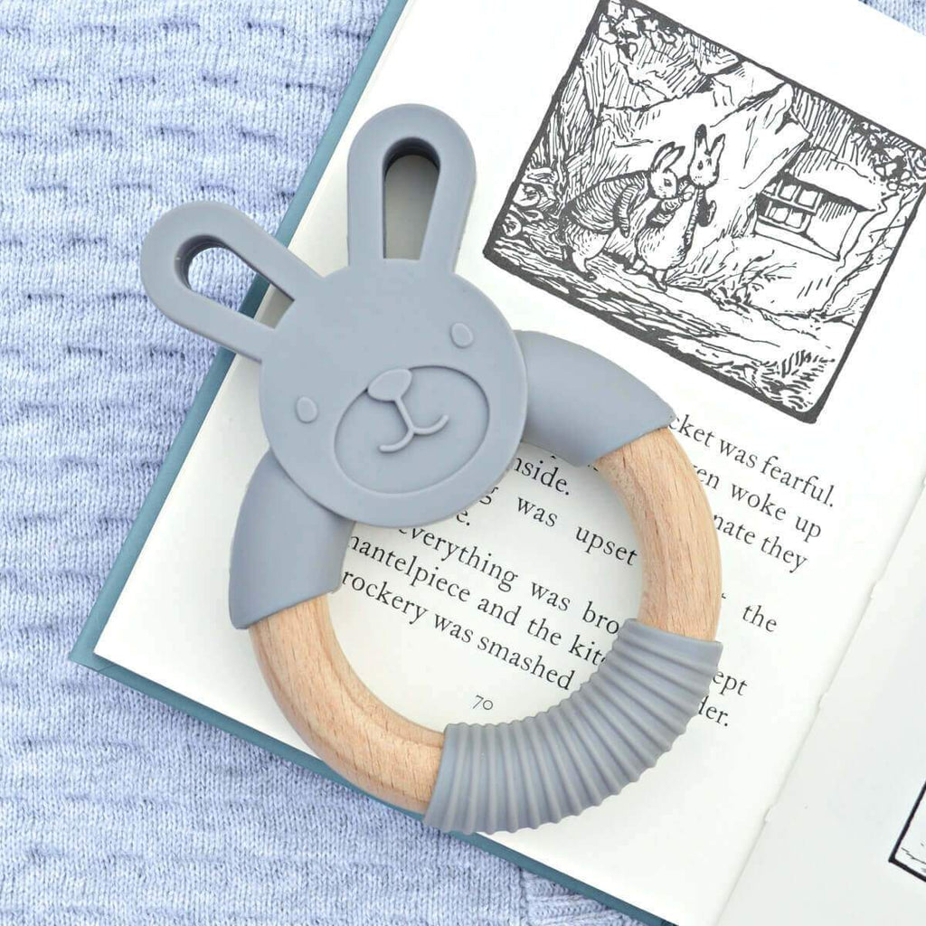 Wood_Silicone_Baby_Teether_Toy_Storm_Grey_Bunny