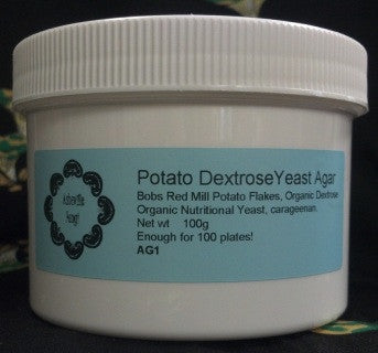 Potato Dextrose Yeast Agar - Supplies - Asheville Fungi