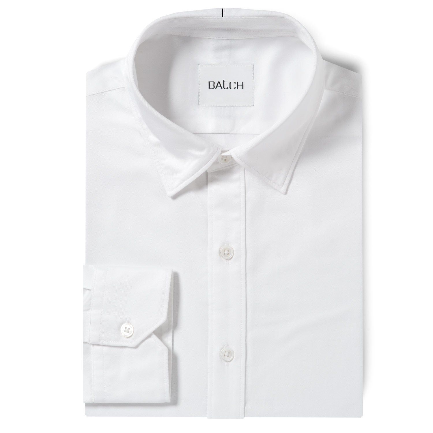 Essential SC Shirt No Pocket - Pure White Wrinkle Defiant Twill