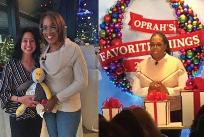 The Patchwork Bear with Oprah and Gayle King