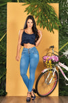 """Perfect Blue"" Push up Jeans Levanta Cola 10553"
