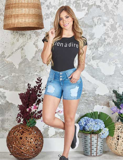 """Liz"" Denim Shorts Levanta Cola 10847"