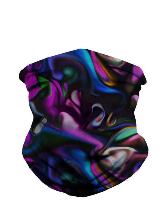 Trippy Paint Party Seamless Mask Bandana-Front