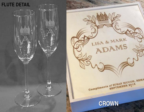 Personalized Champagne / Wine Box - Click for design choices
