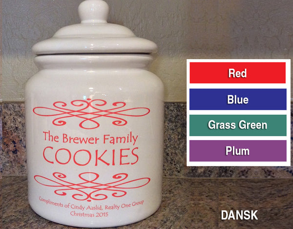 Personalized Cookie Jar - Click for design choices