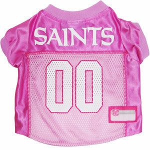 NFL - New Orleans Saints Dog Jersey in Pink - Three Humans & A Dog Company