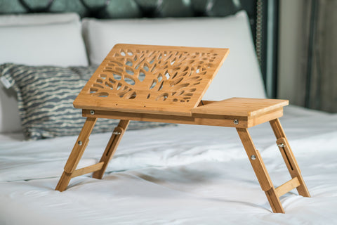 "20"" Long  100% Bamboo Laptop Table"