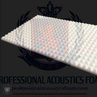 "Soundproof Foam Professional Acoustics Foam Ivory Acoustic Foam 2"" Thick Pyramid Style 4ft X 6ft Sheets (24 Sqft)"