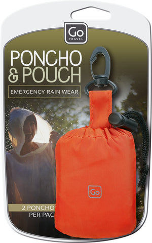 Go Travel Portable Poncho And Attachable Carry Pouch
