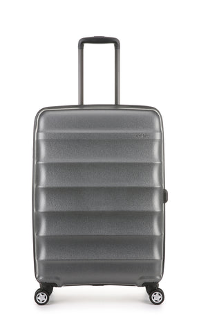 Antler Juno Metallic DLX Medium 68cm Charcoal Expandable Hard Suitcase