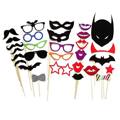30 Piece Party Masks Wedding Photo Booth Reception Props on a Stick Decoration Favors