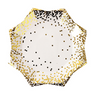 Large Gold Confetti Plate