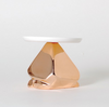 Candy Rock Copper Crystal Cake Plate