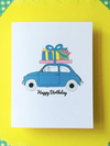 Birthday Car Letterpress Card