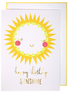 Sunshine Happy Birthday Card