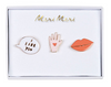 Lips, Hand & Speech Enamel Pins