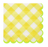 Yellow Gingham Small Napkin
