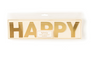 Gold Basic Happy Birthday Banner