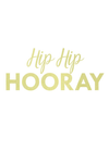 Hip Hip Hooray Gold Foil Banner