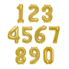 34 inch Gold Number Balloon