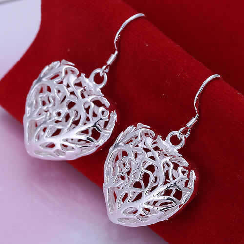 Heart Drop Earrings - Luna's Warehouse